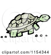 Cartoon Of A Tortoise Royalty Free Vector Illustration by lineartestpilot