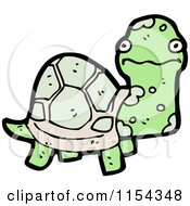 Cartoon Of A Tortoise Royalty Free Vector Illustration