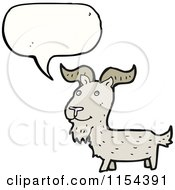 Cartoon Of A Talking Goat Royalty Free Vector Illustration by lineartestpilot