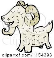Cartoon Of A Goat Royalty Free Vector Illustration by lineartestpilot