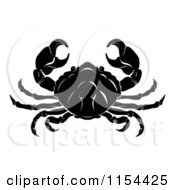 Clipart Of A Black And White Horoscope Zodiac Astrology Cancer Crab Royalty Free Vector Illustration