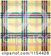 Clipart Of A Seamless Yellow Green And Magenta Tartan Plaid Background Royalty Free Vector Illustration by Oligo