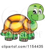 Cartoon Of A Cute Turtle Royalty Free Vector Illustration by visekart