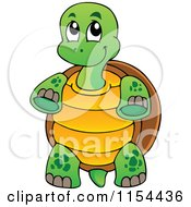 Cartoon Of A Cute Standing Turtle Royalty Free Vector Illustration by visekart