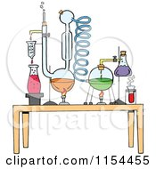 Cartoon Of A Chemistry Set In A Science Lab Royalty Free Vector Illustration