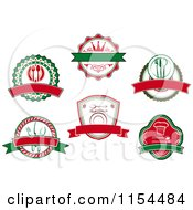 Clipart Of Italian Restaurant Logos Royalty Free Vector Illustration