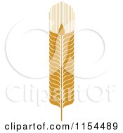 Clipart Of A Whole Grain Ear 3 Royalty Free Vector Illustration