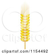 Clipart Of A Whole Grain Ear 2 Royalty Free Vector Illustration