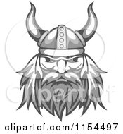 Clipart Of An Aggressive Grayscale Viking Warrior Face Royalty Free Vector Illustration by Vector Tradition SM