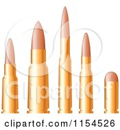 Clipart Of A Line Up Of Bullets Royalty Free Vector Illustration