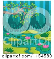 Cartoon Of A Swamp Landscape Royalty Free Vector Clipart by visekart