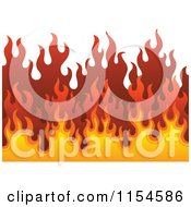 Cartoon Of A Background Of Flames Royalty Free Vector Clipart