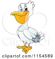 Cartoon Of A Pelican Royalty Free Vector Clipart by visekart #COLLC1154589-0161