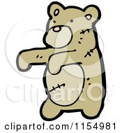 Cartoon Of A Zombie Teddy Bear Royalty Free Vector Illustration by lineartestpilot