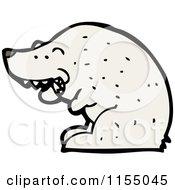 Cartoon Of A Polar Bear Smoking Royalty Free Vector Illustration by lineartestpilot