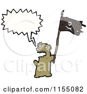 Cartoon Of A Talking Pirate Bear Royalty Free Vector Illustration by lineartestpilot