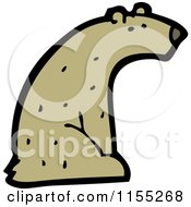 Cartoon Of A Bear Royalty Free Vector Illustration by lineartestpilot