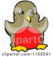 Cartoon Of A Red Chested Robin Royalty Free Vector Illustration by lineartestpilot