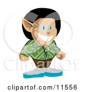 Cool Stylish Male Elf Clipart Illustration by AtStockIllustration