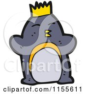 Cartoon Of A King Penguin Royalty Free Vector Illustration by lineartestpilot