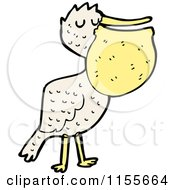 Cartoon Of A Pelican Royalty Free Vector Illustration by lineartestpilot
