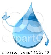 Clipart Of A 3d Water Droplet With An Idea Royalty Free CGI Illustration