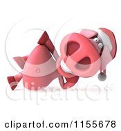 Clipart Of A 3d Christmas Pig Reclined Royalty Free CGI Illustration