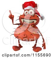 Clipart Of A 3d Christmas Germ With An Idea Royalty Free CGI Illustration