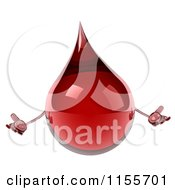Clipart Of A 3d Blood Drop Mascot Shrugging Royalty Free CGI Illustration