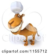 Clipart Of A 3d Camel Chef Smiling Royalty Free CGI Illustration