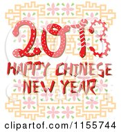 Cartoon Of Happy Chinese New Year 2013 Snakes Royalty Free Vector Illustration by Cherie Reve