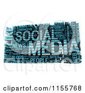Clipart Of A 3d Blue Social Media Word Collage Royalty Free CGI Illustration