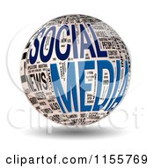Clipart Of A 3d Social Media Word Collage Sphere Royalty Free CGI Illustration by MacX