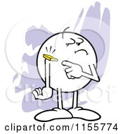 Cartoon Of A Moodie Character With A Chip On His Shoulder Royalty Free Vector Illustration