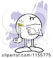Cartoon Of A Mad Moodie Character With A Chip On His Shoulder Royalty Free Vector Illustration