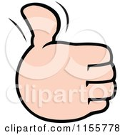 Cartoon Of A Hand Holding Up A Thumb Royalty Free Vector Illustration by Johnny Sajem