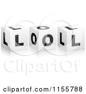 Clipart Of 3d LOL Cubes Royalty Free Vector Illustration