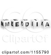 Clipart Of 3d MEDIA Cubes Royalty Free Vector Illustration