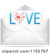 Clipart Of A Love Letter In An Envelope Royalty Free Vector Illustration