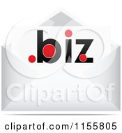 Clipart Of A Dot Biz Letter In An Envelope Royalty Free Vector Illustration by Andrei Marincas
