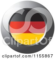 Clipart Of A Chrome Ring And Germany Flag Icon Royalty Free Vector Illustration