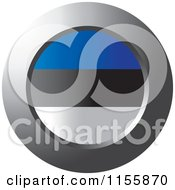 Clipart Of A Chrome Ring And Estonian Flag Icon Royalty Free Vector Illustration by Lal Perera