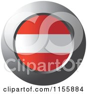 Clipart Of A Chrome Ring And Austrian Flag Icon Royalty Free Vector Illustration