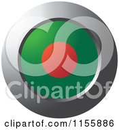 Clipart Of A Chrome Ring And Bangladesh Flag Icon Royalty Free Vector Illustration