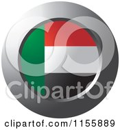 Clipart Of A Chrome Ring And UAE Flag Icon Royalty Free Vector Illustration