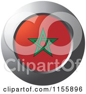 Clipart Of A Chrome Ring And Morocco Flag Icon Royalty Free Vector Illustration