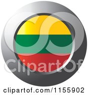 Clipart Of A Chrome Ring And Lithuania Flag Icon Royalty Free Vector Illustration