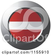 Clipart Of A Chrome Ring And Latvia Flag Icon Royalty Free Vector Illustration