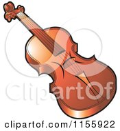 Clipart Of A Violin Royalty Free Vector Illustration by Lal Perera