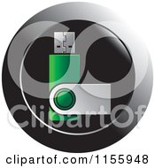 Clipart Of A USB Flash Drive Icon Royalty Free Vector Illustration